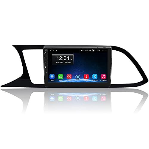 AWESAFE [Android 10.0 2GB+32GB] Radio Coche para Seat Leon 3 2012-2020, Pantalla Coche Táctil de 9 Pulgadas, con WiFi/GPS/Bluetooth/DSP/RDS/USB/FM Am/RCA, Apoyo Mandos del Volante, Aparcamiento