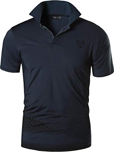 jeansian Herren Summer Sportswear Wicking Breathable Short Sleeve Quick Dry Polo T-Shirts Tops LSL195 Gray XL