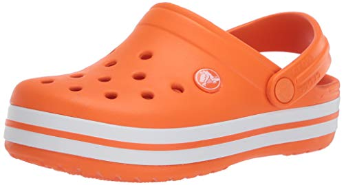 Crocs Baby Kids' Crocband Clog, Orange, C6 M US Toddler