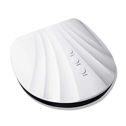Lenfesh Nageltrockner UV LED Nagellampe mit Timer Einstellungen Lichthärtung für alle Gelnägel Professionelles tragbares Nagellack Trocknergerät mit automatischem Sensor 36W