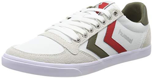 Hummel Herren Slimmer Stadil Low Sneaker Niedrig, Weiß (White/Green 9208), 47 EU