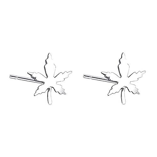 FPOJAFVN Orecchini in Argento S925 Foglia d'Acero Squisiti Orecchini a Forma di Foglia di Ginkgo per Gioielli da Donna E Ragazza Regalo di Natale,Argento