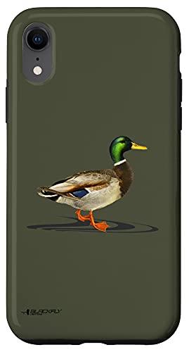 iPhone XR Mallard Drake Duck Hunting Bird Watcher Gift by Black Fly Case