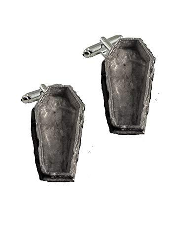 Giftsforall gt287 Manschettenknöpfe, Sarg-Schatulle, 2,2 x 4,5 cm, aus feinem englischen Zinn