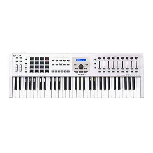 Arturia KeyLab MKII 61 Professional MIDI Controller and Software (White)