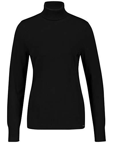 Taifun Damen 472025-19541 Pullover, Schwarz (Black 1100), Large (Herstellergröße: L)