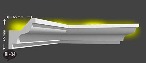 20 meter+4 Ecken LED Lichtprofil Indirekte Beleuchtung LED Decken Profil BL 04