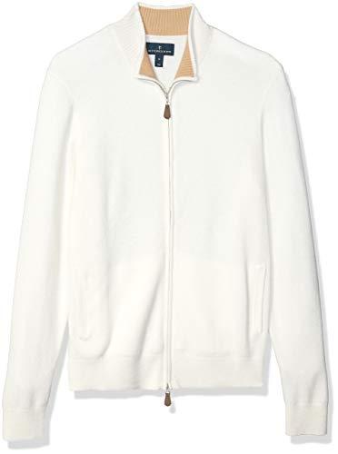 Men's White Cashmere Sweater