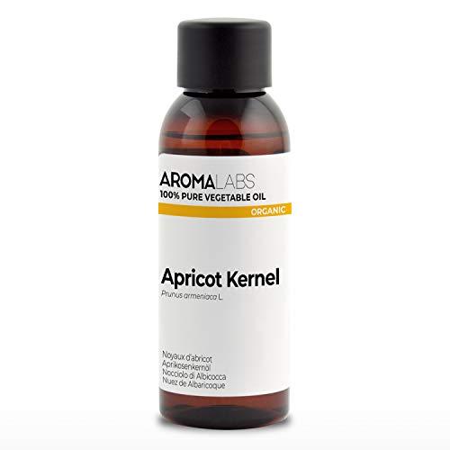 BIO - Olio di Nocciolo di Albicocca, garantito 100% puro, naturale e spremuto a freddo -Biologico certificato da Ecocert - Aroma Labs