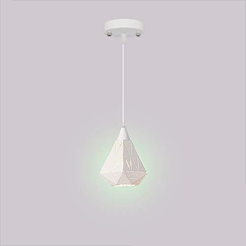 Lighfd Land grote kroonluchters Iron Lights Dining Slaapkamer Woonkamer Bathroomlamp ketting opknoping hanglamp Rustic Vintage Diamond Vorm Enkele Head White