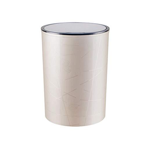 Cxry-Kit Intelligente automatische Induktions-Mülleimer, Kunststoff-Mülleimer, automatische stille Mülleimer für Wohnzimmer, Schlafzimmer und Badezimmer.-Aprikose_8L