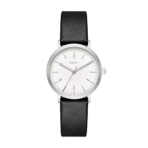 DKNY Damen Analog Quarz Uhr mit Leder Armband NY2506