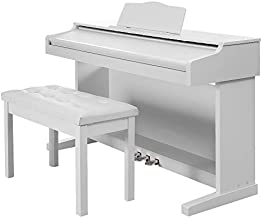 Digital Piano,Les Ailes de la Voix 88 Key Electric Piano Home Piano Electric Keyboard with Retractable Cover for Beginner Adults with 3 Pedal Board,Music Stand,Power Adapter,Headphone,Instruction Book