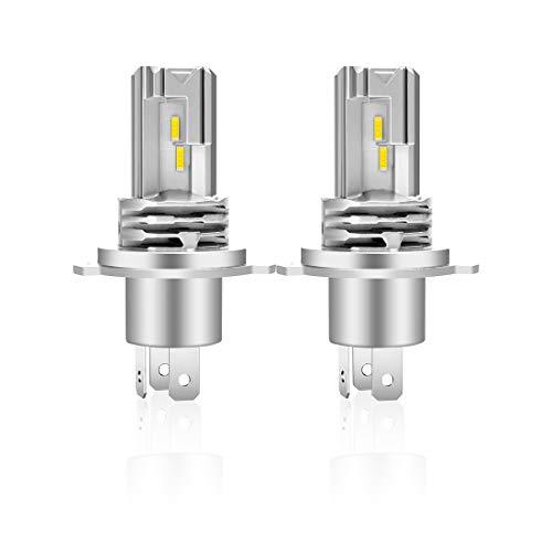 H4 LED Lampadina 6500K Per Fari Auto Luce Abbagliante Anabbagliante,Sostituzione Lampada Alogena E Fari Allo Xenon(2 pezzi)