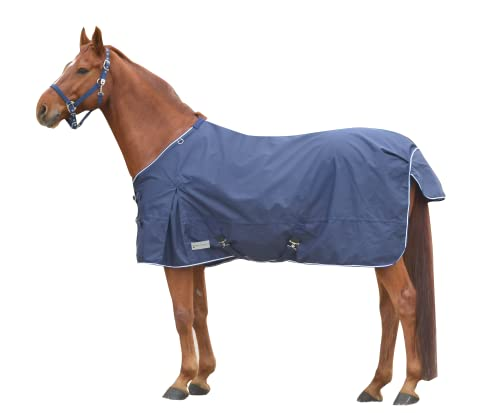Comfort Regendecke mit Kreuzbegurtung, Nachtblau, 135 cm