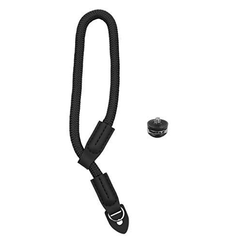 catyrre Handschlaufe Mit Kamera-Sicherheitsleine, Für Sportaufnahmen Im Freien Mit 1/4 Schraube, Kompatibel Mit DJI Osmo Mobile 3 / Zhiyun/Feiyu-Kameras - Bk