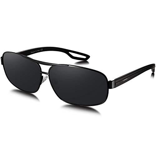 Carfia UV400 Beschermende Zonnebril voor Dames Gepolariseerde Bril, Acetaat Montuur