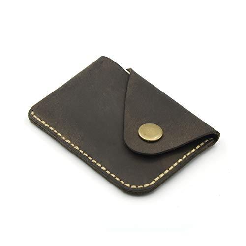 Caja de tarjeta minimalista de bolsillo frontal hecho a mano cartera delgada