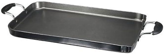 T-fal A92114 / C4061484 Specialty antiadherente apto para lavavajillas, 18 pulgadas x 11 pulgadas, doble quemador, 18 pulgadas, negro – 2100101412