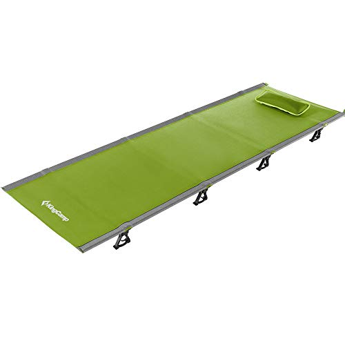 Kingcamp Ultralight Compact Folding Camping Cot Bed, 4.9 Pounds (Green)
