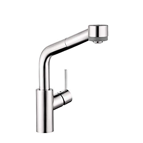 hansgrohe Talis S Premium 1-Handle 13-inch Tall Kitchen Faucet with Pull Down Sprayer with QuickClean in Chrome, 04247000
