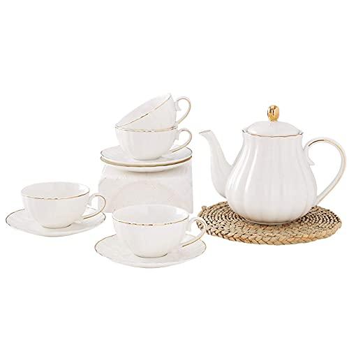 Tea Sets For Adults Afternoon Tea Set Tea Cup And Saucer Gift Set Bone China Coffee Cup Sets Porcelain Tea Set Ceramic Wedding Tea Service B