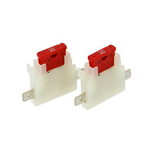 XL Tech 122742 Set de 2 Porte fusibles enfichables 10A