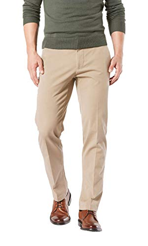 Dockers Men's Straight Fit Workday Khaki Smart 360 Flex Pants, Safari Beige (Stretch) - Tan, 34W x 34L