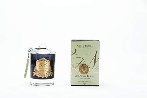 Cote Noire 185g Gardenia geurende kaars in een zwarte glazen pot