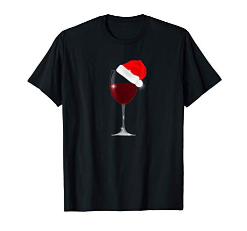 Copa Vino Bebida Navidad Fiesta Fin de Año 2020 Mujer Hombre Camiseta