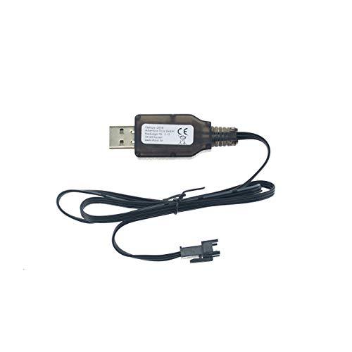efaso 6,4V USB-Ladekabel - Passend für RC Akkus mit 3-poligem Stecker - WLToys A303, A959-A