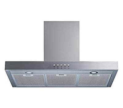 """Winflo 30"""" Wall Mount Stainless Steel Convertible Range Hood with 520 CFM Air Flow, Aluminium Mesh Filters and LED Lights"""