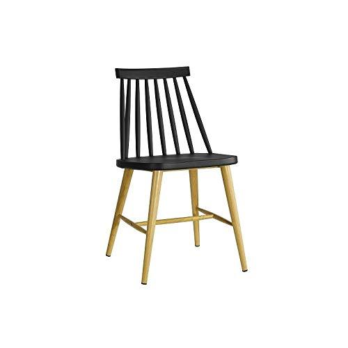 WHYNOTHOME WH5WH57.SCAMUSNE Pack de 2 sillas CAMUS, Estructura Metal, Negra, 77 x 43 x 49 cm