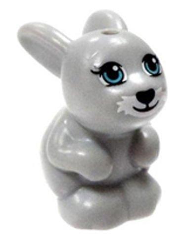 LEGO New Friends Grey Bunny Rabbit Minifigure Minifig Figure Cute Girl Boy
