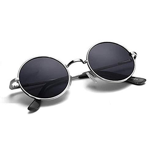 DEVEW™ Black Round Sunglasses For Men And Women