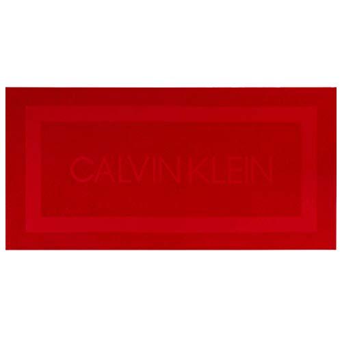 Calvin Klein Terry Sculpt Toallas de Playa, Algodón, Rojo, 91x183 cm