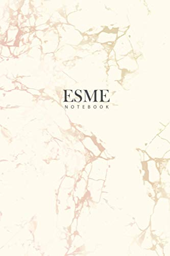 ESME : Personal Marble ESME Notebook / Journal: Diary Notebook / Lined Notebook / Journal Gift, 120 Pages, 6x9, Soft Cover, Matte Finish