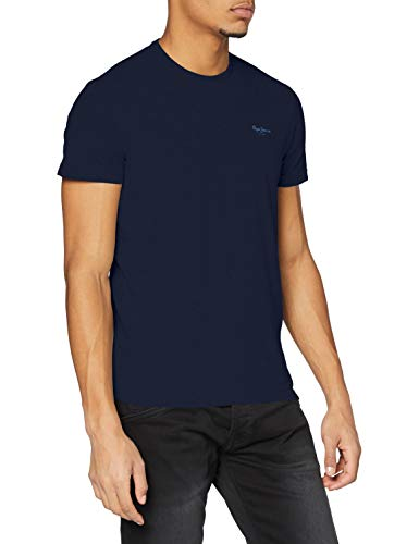 Pepe Jeans Original Basic S/S PM503835 Camiseta, Azul (Navy 595), Medium para Hombre