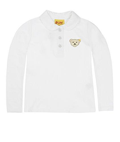 Steiff Steiff Baby - Mädchen Poloshirt 0006893 Polo Shirt 1/1 Sleeves, Bright White, 68 (herstellergröße: 62)