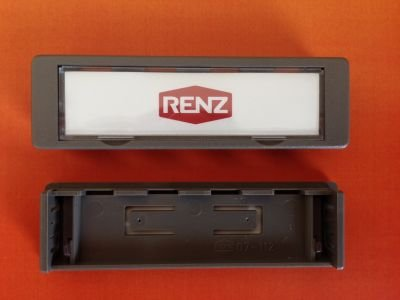 RENZ Namensschild 92-grau