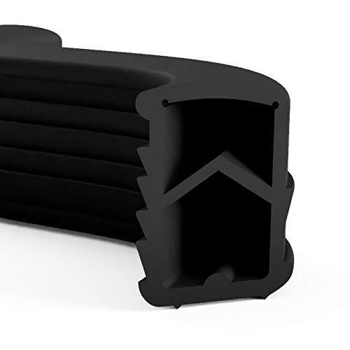 DIWARO.® Stahlzargen-Dichtung SZ001 | weiß, grau, schwarz, braun | 5 lfm für Haus- und Innentüren. Zum Schallschutz und abdichten der Tür. Bestehend aus TPE (Thermoplastischen Elastomer) (schwarz)