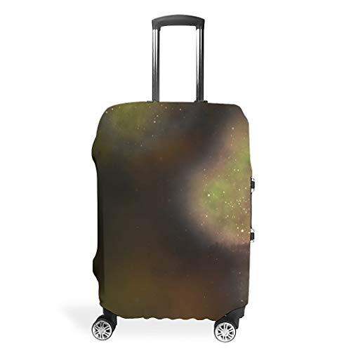 Galaxy Travel Suitcase Cover Protector - Nebula Unique 4 Sizes Suit Lots of Suitcase white10 XL (76x101cm)