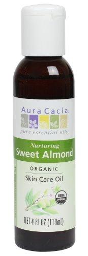 Aura Cacia Organic Skin Care Oil, Nurturing Sweet Almond, 4 Fluid Ounce by Aura Cacia