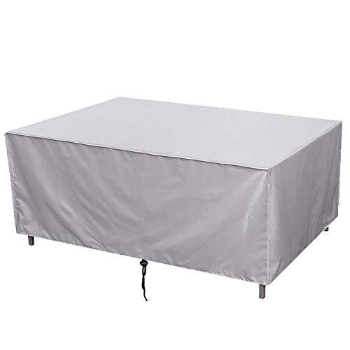 QIAOH Funda Protectora para Muebles Impermeable 183x76x72cm, Cubierta De Mesa De Jardín, Resitente Al Polvo, para Mesa Y Silla para Patio Impermeable a Prueba De Viento Funda para Muebles