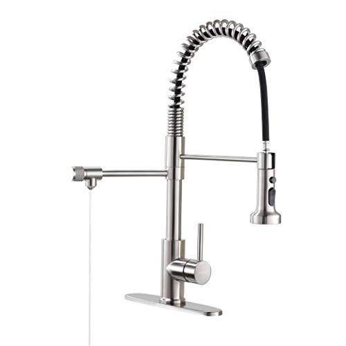 Drinking Water Faucet, Kitchen Faucet, Kitchen Sink Faucet, Water Filtration Faucet, Sink Faucet, Pull-Down Kitchen Faucets, Bar Water Filter Faucet, Brushed Nickel, Stainless Steel, PAKING PB1017