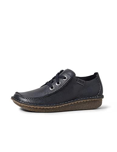 Clarks Funny Dream, Zapatos de Cordones Derby para Mujer, Azul (Navy Nubuck), 37