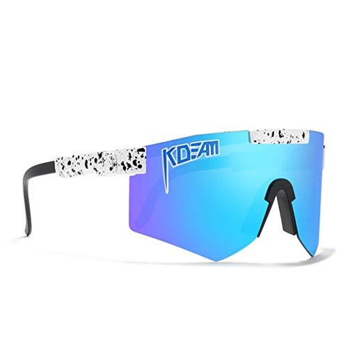 Gafas De Sol De Ciclismo Gafas De Bicicletas, para Hombres Y Mujeres Eyewear A Prueba De Viento Al Aire Libre, para Correr La Conducción De Golf De Béisbol,C