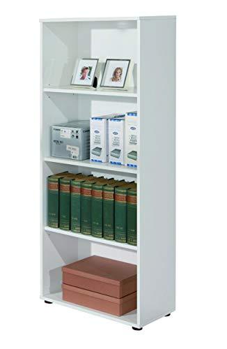 Inter Link 13500030 Regal weiß Bücherregal Wandregal Aktenregal Büroregal Büro Wohnzimmer 3 Böden