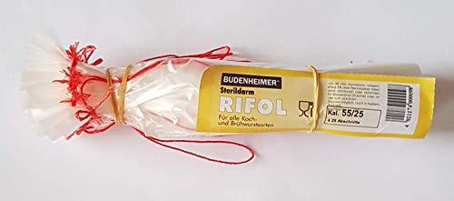 Sterildarm Budenheimer Rifol Kunstdarm - 25 Stück Kaliber 55/25 für Koch- und Brühwurst