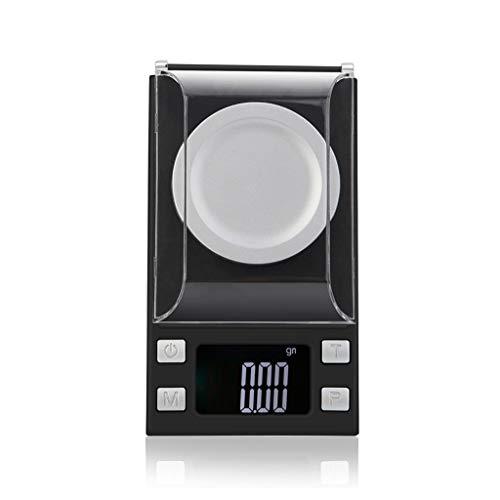 M-YN Báscula Digital para Cocina Escala miligramos, 50 g / 0,001 g joyería Digital Pólvora Escala for la Recarga de Microgramo Escala con retroiluminado Pantalla LCD (Size : 100g/0.001g)